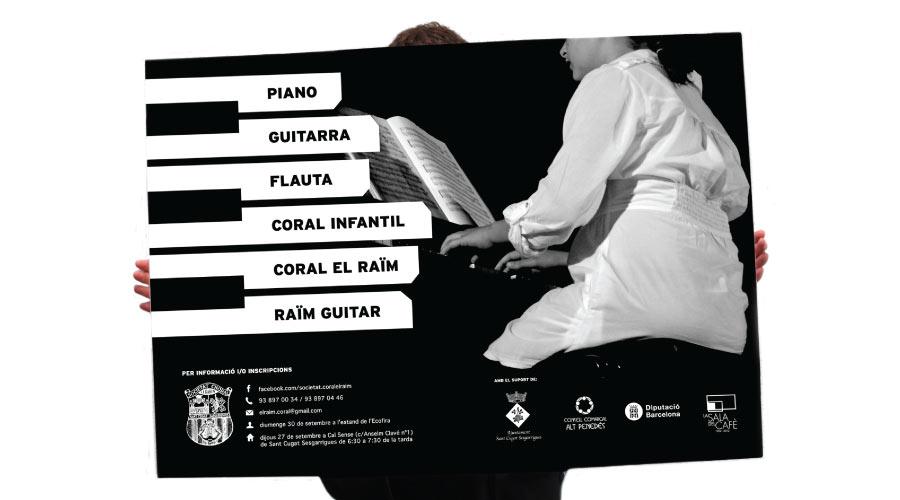 angelspinyol societatelraim pianoo - SOCIETAT CORAL EL RAÏM - Disseny de cartells