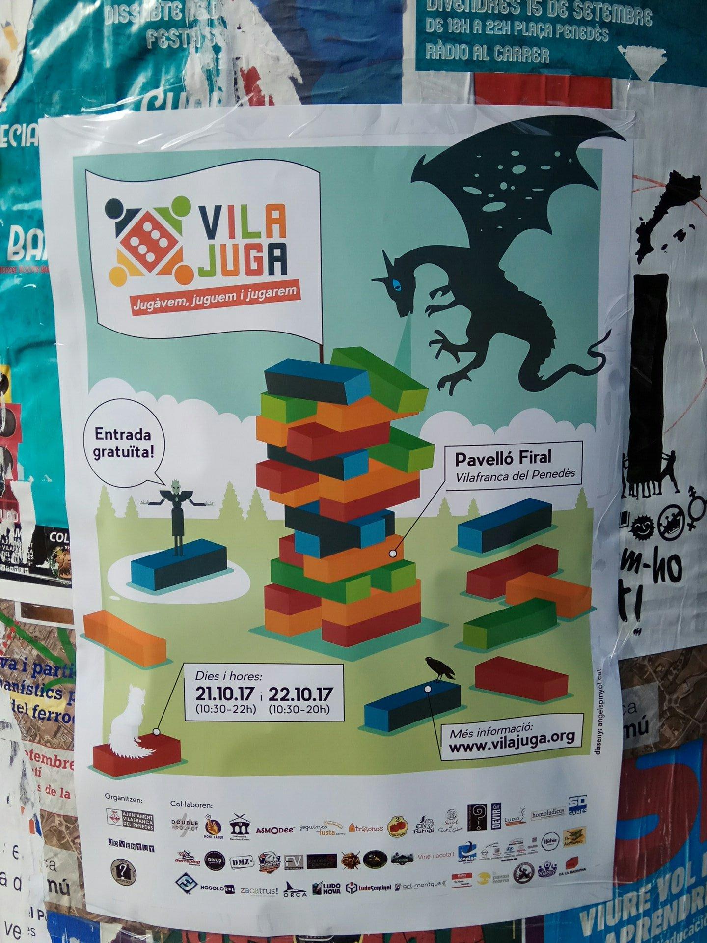 vilajuga2017poster - VILAJUGA - Disseny de la imatge gràfica de les jornades de jocs de Vilafranca del Penedès