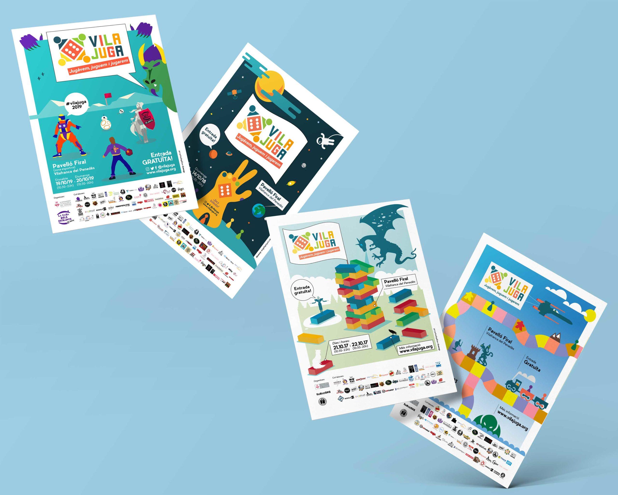 vilajuga   angelspinyol rol jocstaula disseny penedes vilafranca scaled - VILAJUGA - Disseny de la imatge gràfica de les jornades de jocs de Vilafranca del Penedès