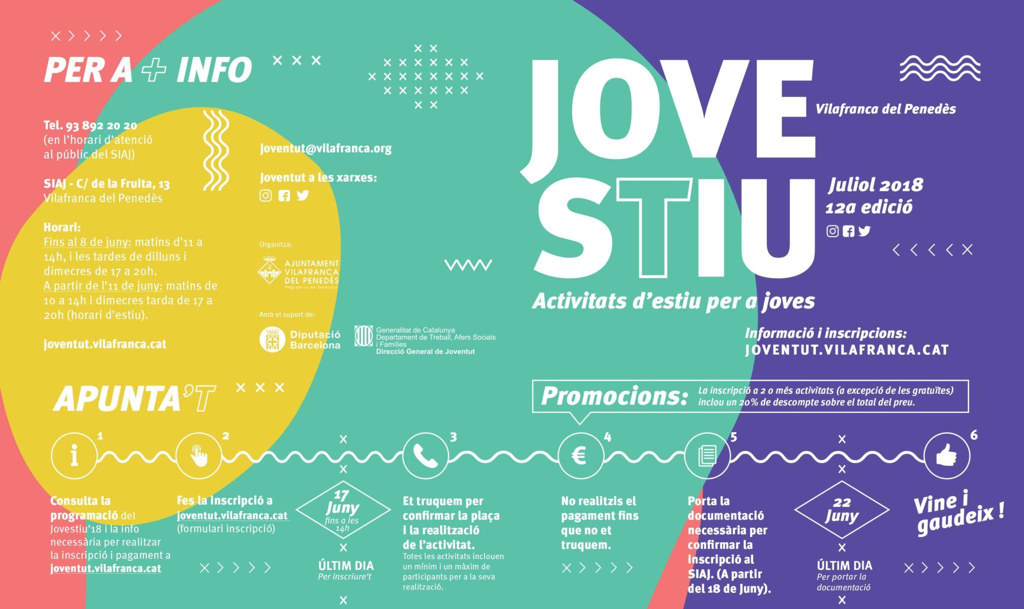 Info Jovestiu Disculpi Studio Vilafranca del Penedes - JOVESTIU - Disseny del programa d'activitats d'estiu per a joves a Vilafranca del Penedès