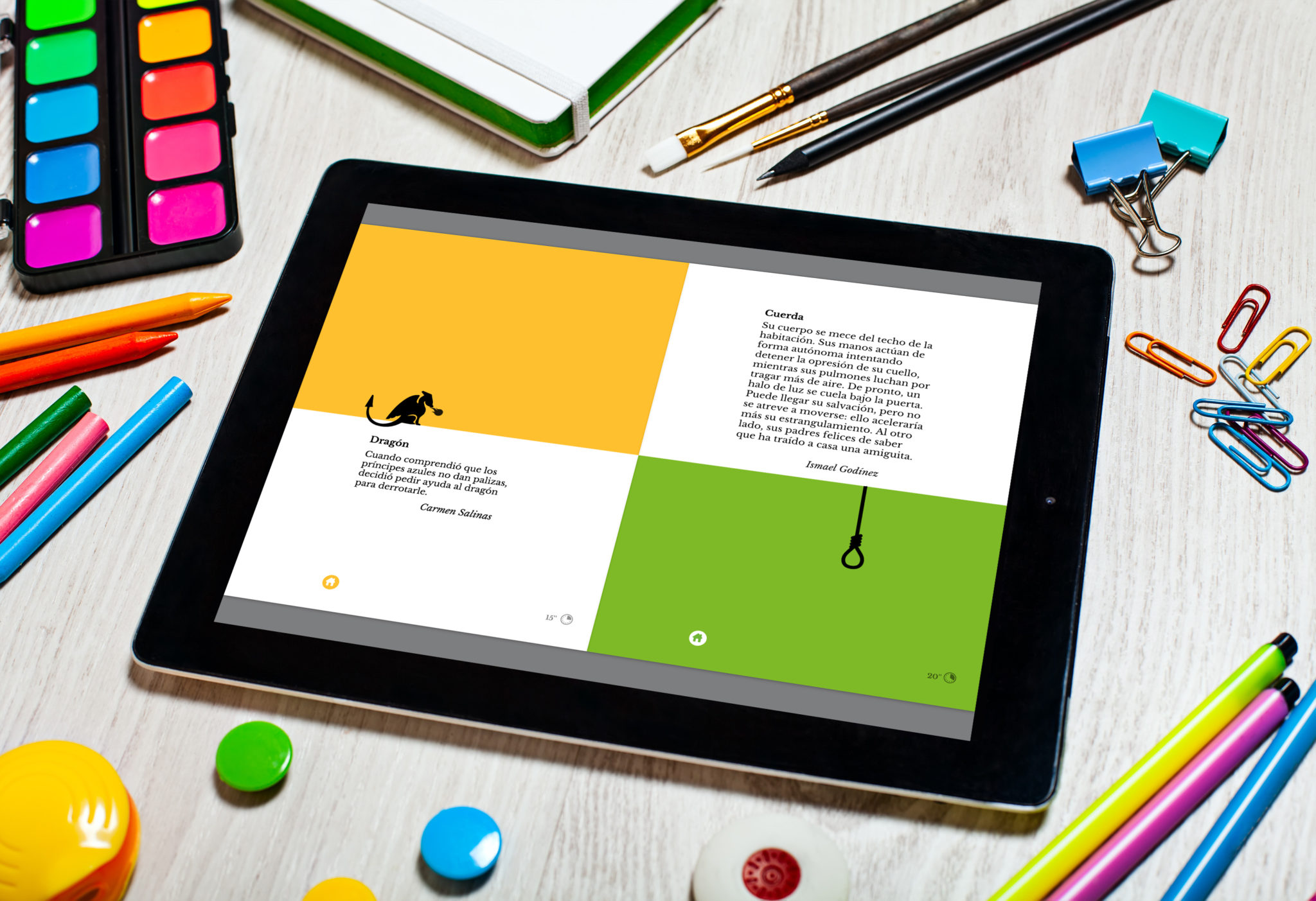 Microcuentos 02 - MICROCUENTOS - Disseny i programació del llibre interactiu