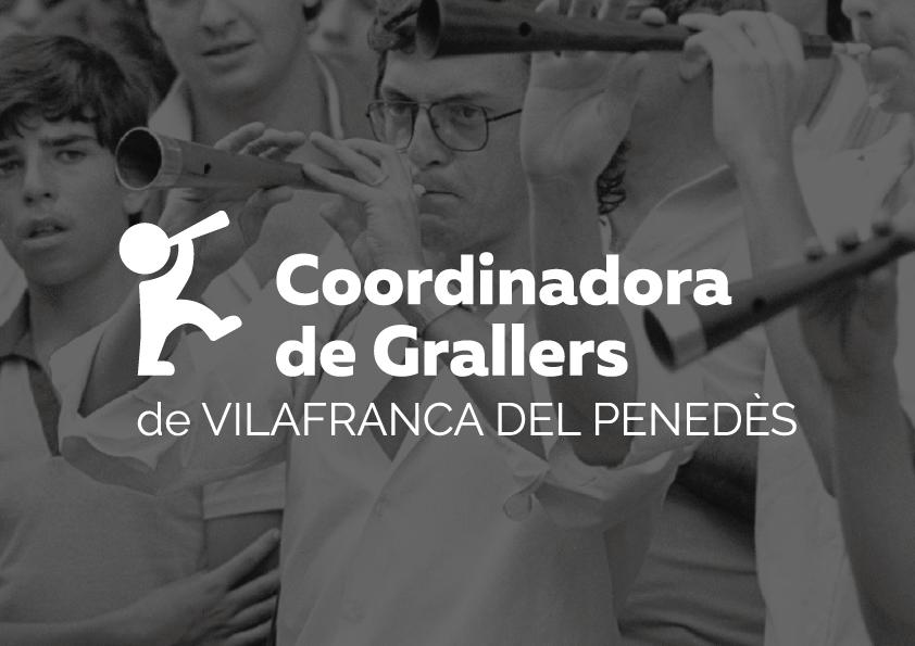Coordinadora de Grallers Disculpi Studio Logotip Angels Pinyol - COORDINADORA DE GRALLERS DE VILAFRANCA DEL PENEDÈS - Disseny