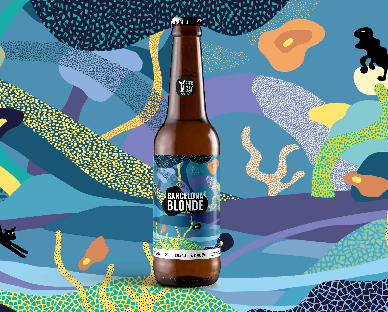 barcelona craftbeer vilafranca penedes disculpi studio angels pinyol - BEERCAT - Il·lustracions i disseny per etiquetes cerveses artesanes