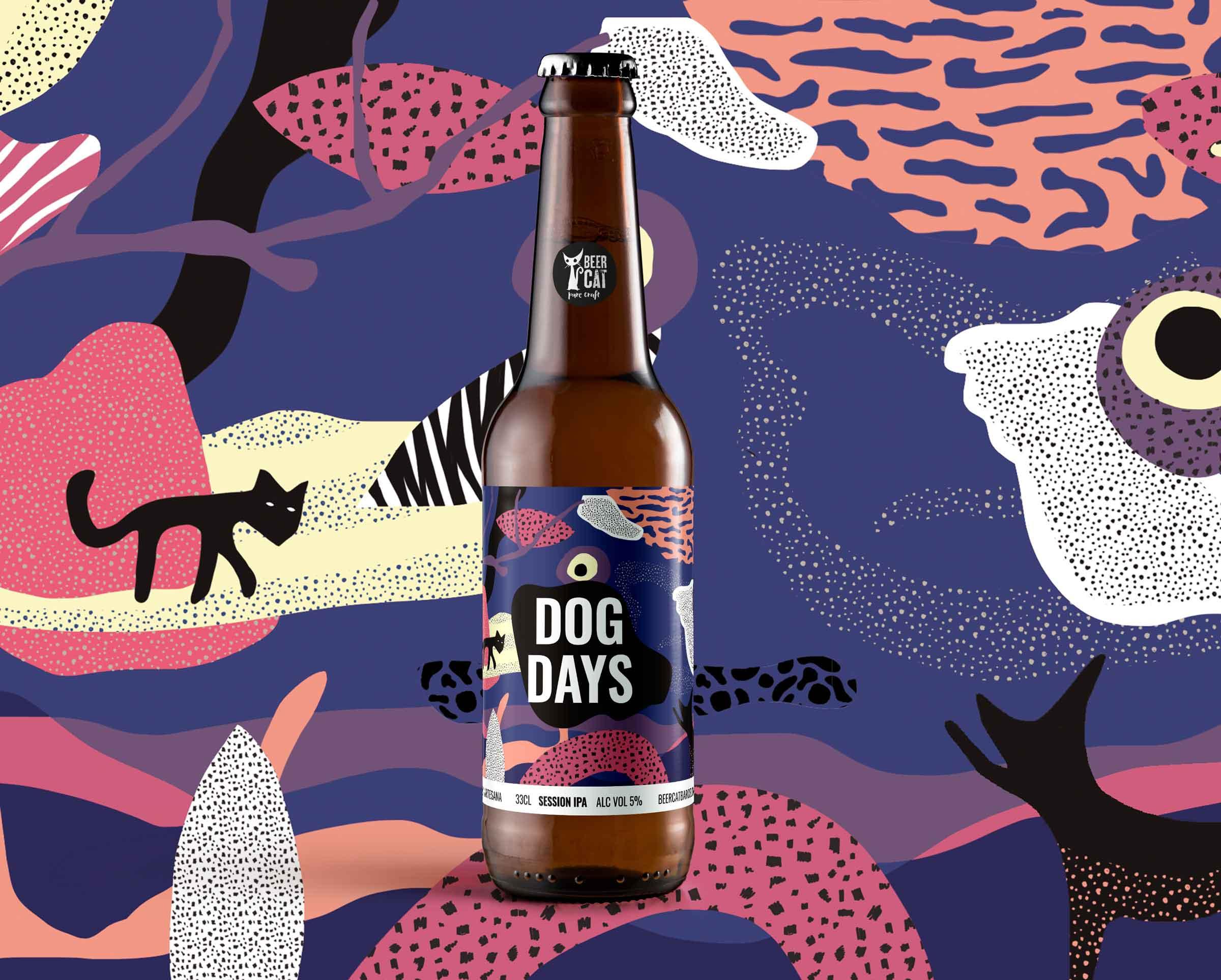 dogdays craftbeer vilafranca penedes disculpi studio angels pinyol - BEERCAT - Il·lustracions i disseny per etiquetes cerveses artesanes