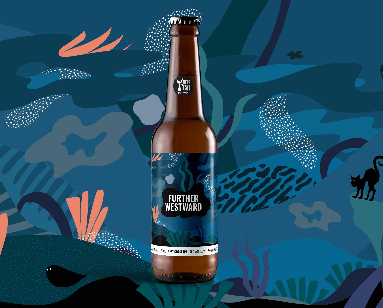further westward craftbeer vilafranca penedes disculpi studio angels pinyol - BEERCAT - Il·lustracions i disseny per etiquetes cerveses artesanes