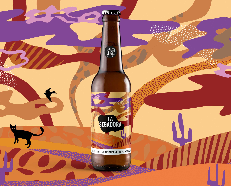 la segadora craftbeer vilafranca penedes disculpi studio angels pinyol - BEERCAT - Il·lustracions i disseny per etiquetes cerveses artesanes