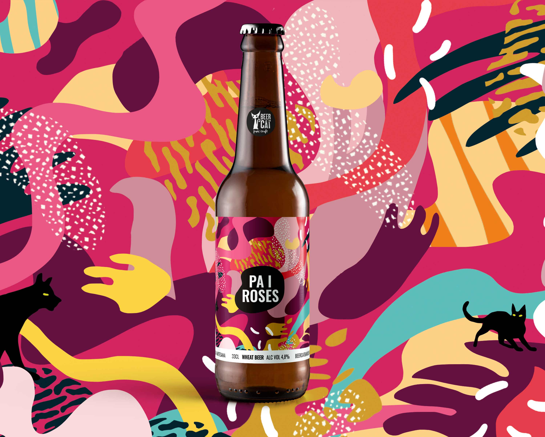 pa i roses craftbeer vilafranca penedes disculpi studio angels pinyol - BEERCAT - Disseny de sis etiquetes per les cerveses del Penedès BeerCat