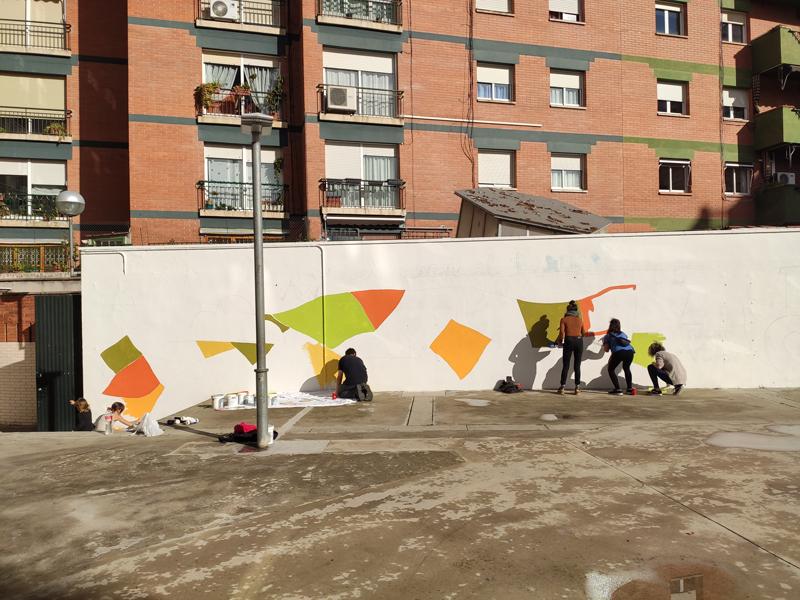 defensem el territori street art angels pinyol - DEFENSEM EL TERRITORI - Disseny gràfic street art Vilafranca del Penedès