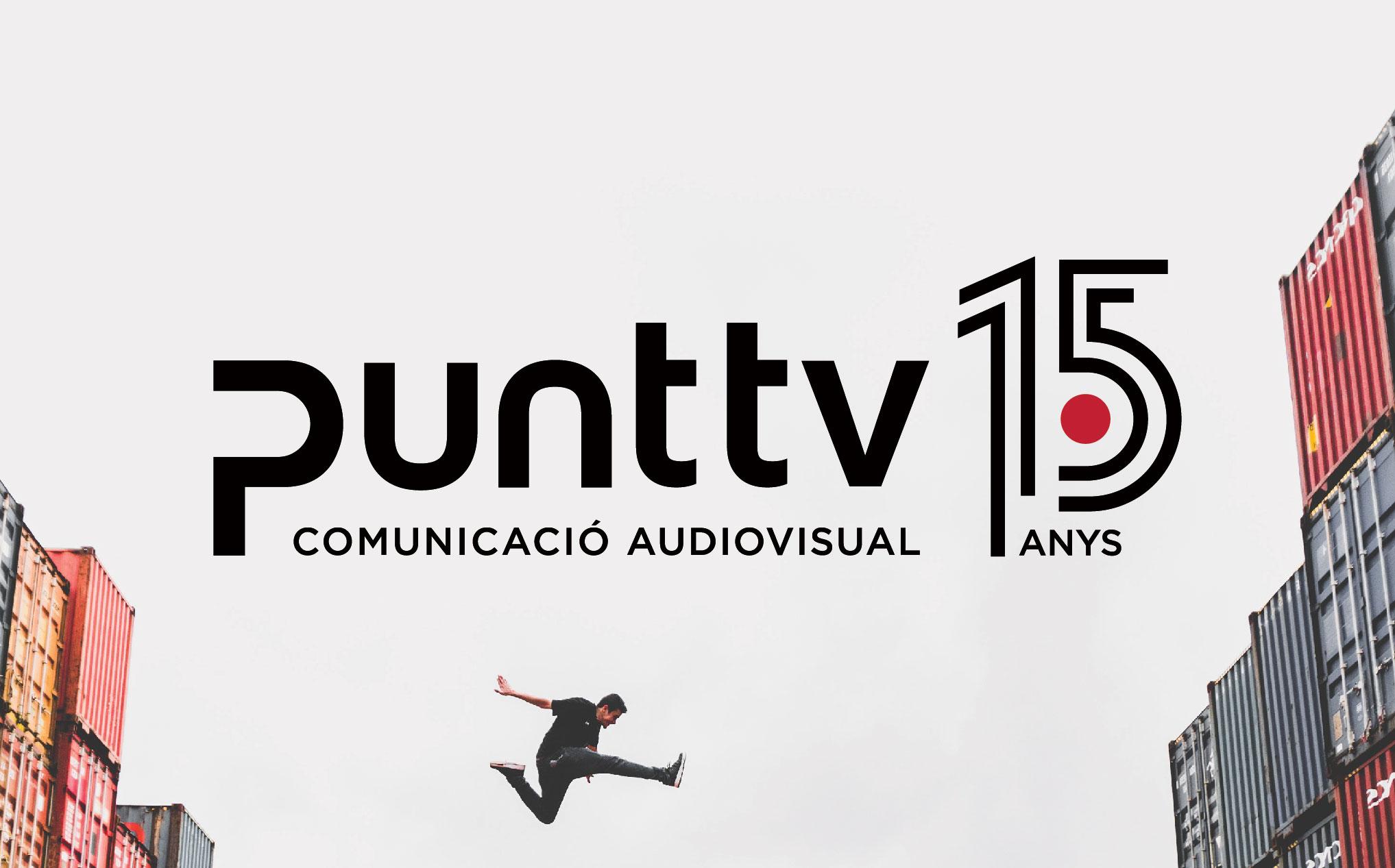 Punt TV Comunicació Audiovisual 15 anys Disculpi Studio Disseny Grafic Vilafranca del Penedes Graphic Design Barcelona Angels Pinyol Carla Elias - PUNT TV - Disseny del logotip pels quinze anys
