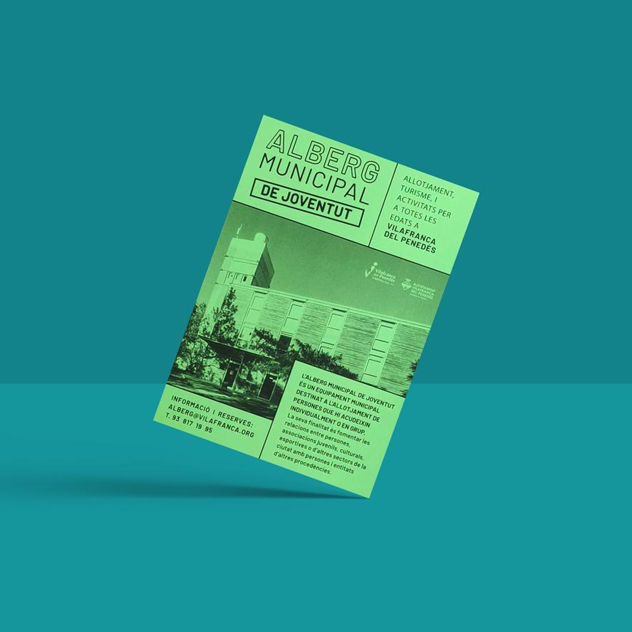 alberg municipal disseny grafic vilafranca penedes disculpi angels pinyol carla joventut - Projectes – Àngels Pinyol - Disseny Gràfic i Comunicació Visual