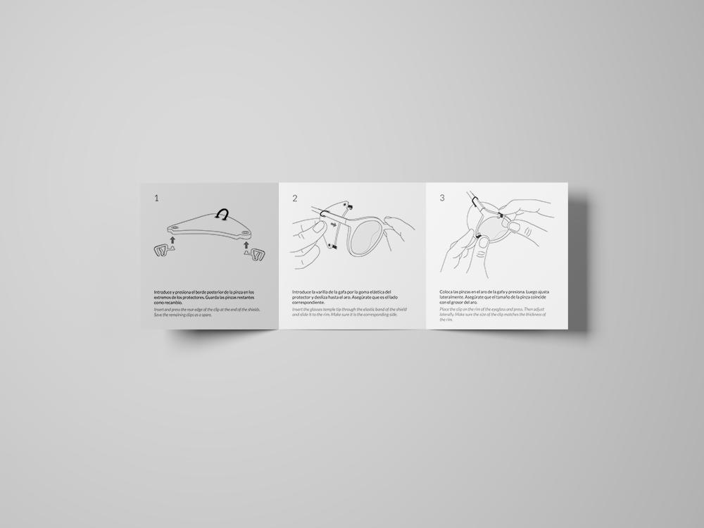angels pinyol disculpi studio blinkset identity branding visual logo infographics motion graphics animation vilafranca penedes barcelona carla angelspinyol instruccions - BLINKSET - Branding per una marca de protectors solars d'ulleres laterals