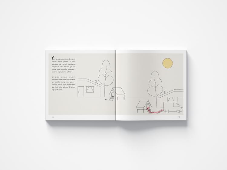 el gallo cantor graphic design tale angels pinyol editorial llibre infantil illustration vilafranca penedes disseny guardes lectura - EL GALLO CANTOR - Disseny Editorial i Il·lustracions Llibre Infantil