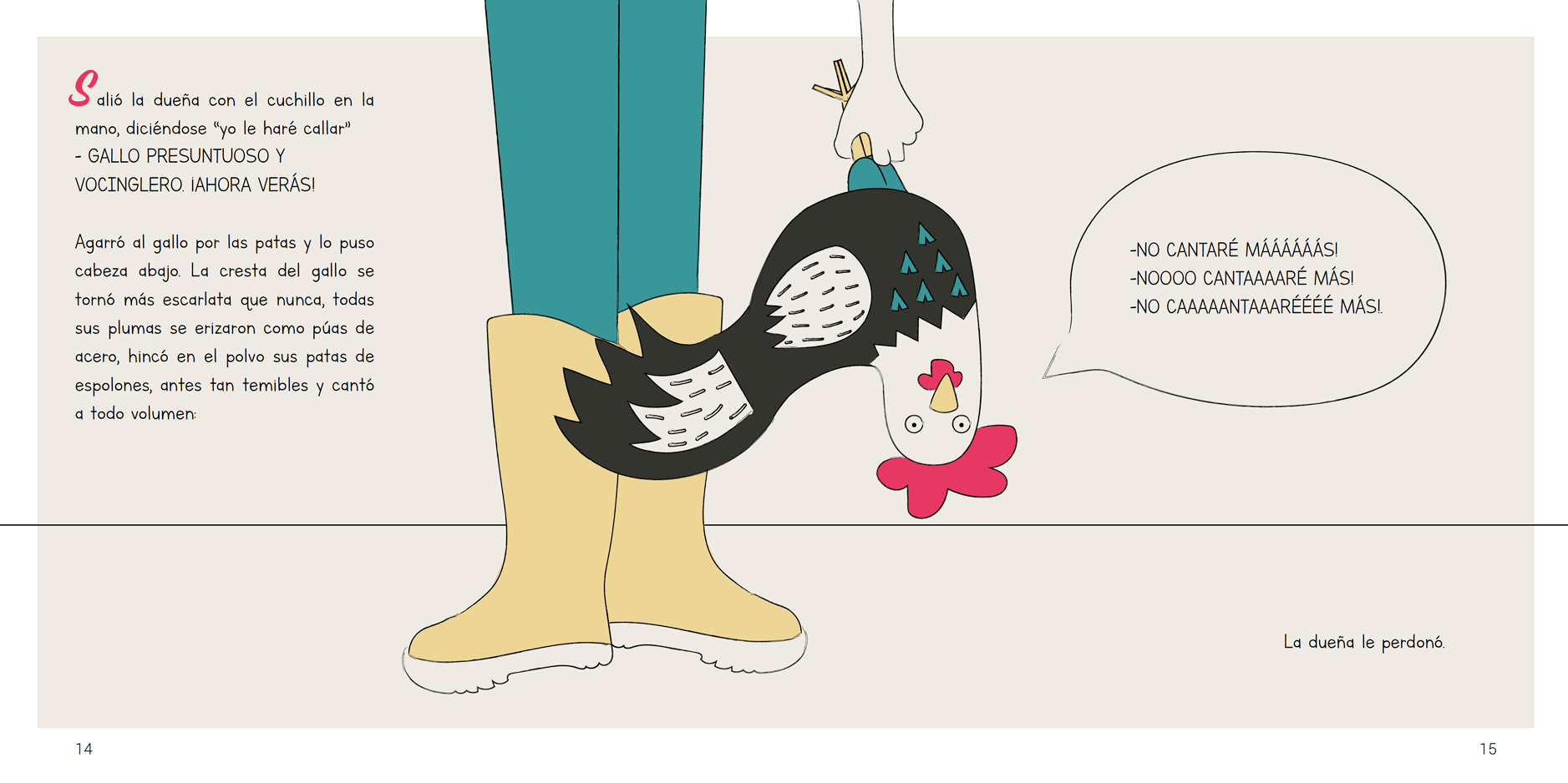 el gallo cantor graphic design tale angels pinyol editorial llibre infantil illustration vilafranca penedes disseny - EL GALLO CANTOR - Disseny Editorial i Il·lustracions Llibre Infantil